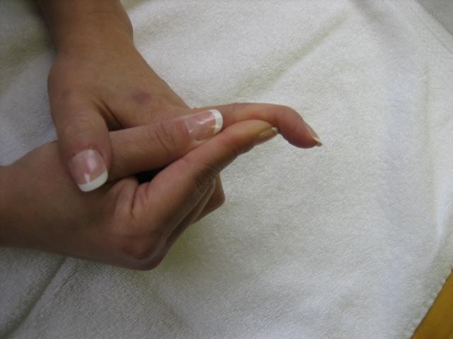 Photograph of digit motion blocking exercises
